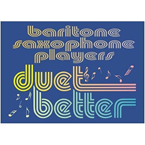 Teeburon Baritone Saxophone duet better Sticker Pacchetto di