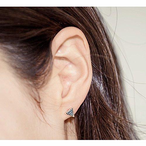 Turquie Pierre Boucles d'oreilles en argent pendentif en forme de triangle Pink Gold