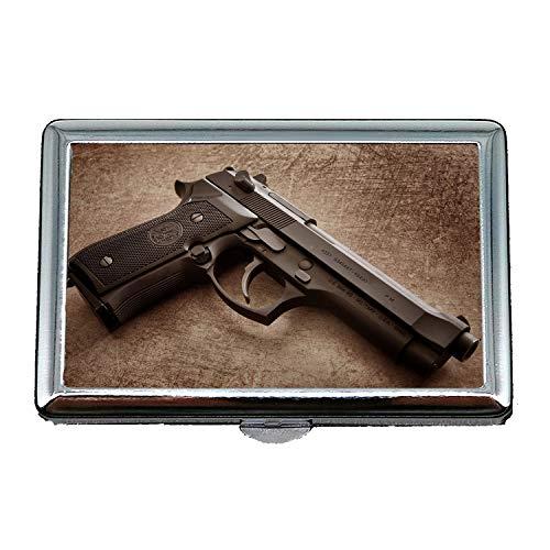 Kostüm Zigaretten Box - Zigaretten-Aufbewahrungskoffer/Box, Waffengeschäft, Zigarettenetui Box, alle Pistole, Visitenkartenetui Visitenkartenetui Edelstahl