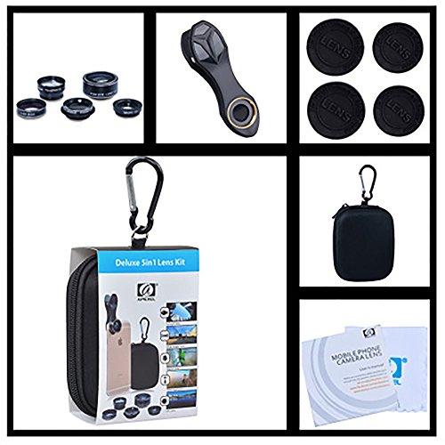 TBY 5In1 Handy-Objektiv-Anzug, Weitwinkel-Micro Entfernung Fisch Auge Webcam, High-Definition-Polarisation Spiegel, Autodyne Fotografieren, Fokus-Objektiv.