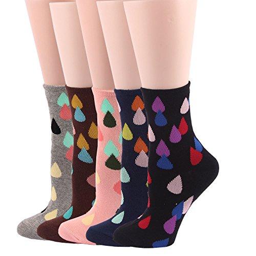 RioRiva Cute Cartoon calzini termici vari disegni / Colori adulti Donna Calzini vita in dimensione universale Confortables per Uomo e Donna (Donna EU 36-42, WSK13- 5 pares)