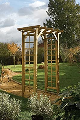Timber Square Top Garden Arch OGD035