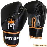 Meister MMA Pro guantes de boxeo w/(par) muñequera Varios colores 14 Ounce Black/Orange