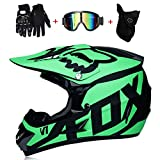 CYX-OUTDOOR Casque Motocross Adulte MX Moto Casque VTT Scooter Tout-Terrain Casque...