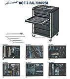 Hazet Werkstattwagen Assistent mit Sortiment, Anzahl Werkzeuge: 258, 1035 x 810 mm, 1 Stück, 180T-7-RAL7016/258
