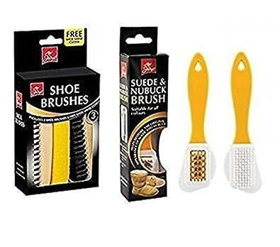 Chaussure Kit De Brosses / Pinceaux - Daim Nubuck Brosse + 2 Chaussure Pinceaux + Chaussure Brillant Tissu