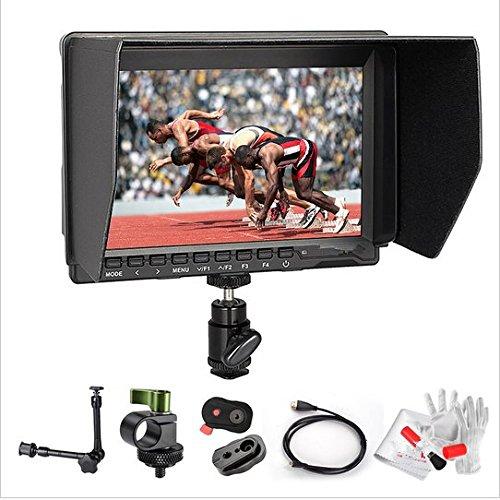 Preisvergleich Produktbild Gowe 17,8cm HD IPS 1280x 800Field 4K Kamera Monitor HDMI + Schnellwechselplatte + Magic Arm für Panasonic GH4Sony A7S FS7