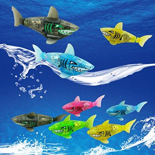 Upxiang Powered Lustige Kinder Badespielzeug Schwimmen Shark Spielzeug Baden Zubehör Robot Spielzeug Fisch Spielzeug Kinder Bad Licht Sensor Wasser Fisch Spielzeug