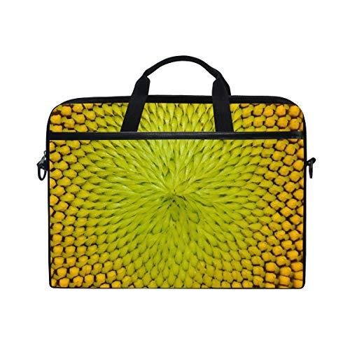 Ahomy Laptoptasche, 33,3-35,6 cm (13,3-14 Zoll), Sonnenblumen-Samen, multifunktionaler Stoff, wasserdicht, Laptop-Tasche mit Schultergurt