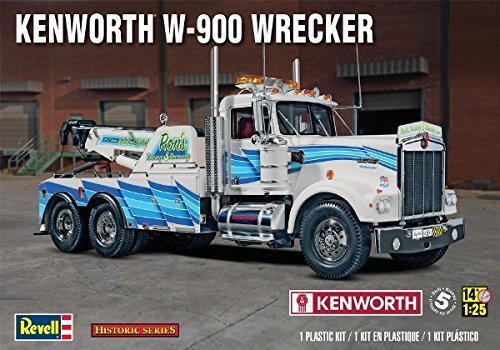 Revell Kenworth W-900 Wrecker, Big Rig Tow Truck 1/25 Scale Model truck Kit by Revell Rig Truck
