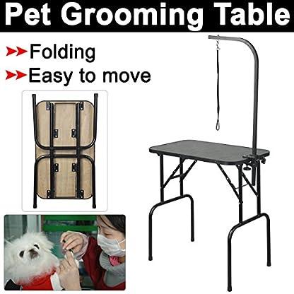 Beyondfashion 75cm x 46cm x 82cm Portable Foldable Dog Pet Large Grooming Table Excellent Working Platform Waterproof… 8