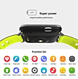 TECKEPIC Activity Tracker Watch Heart Rate Monitors Step Calorie Counter Wristband Sleep Monitor Smart Bracelet Fitness Tracker Bluetooth Smartwatch For Android IOS Smartphones