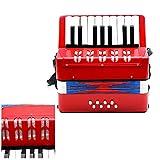 Andoer® Bambini 17-tasto 8 Mini Basso Piccolo Strumento Fisarmonica Educativo Musicale Rhythm Band Giocattolo