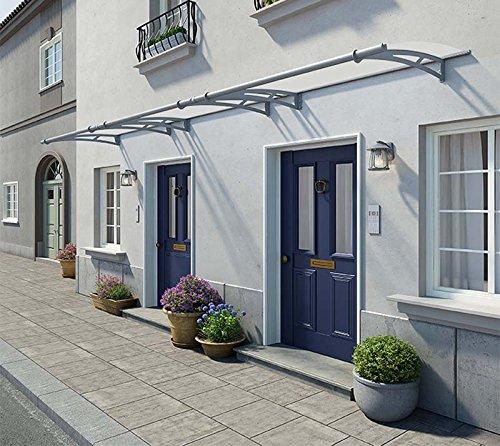 Palram Vordach, Regenschutz, Überdachung Aquila 4500 klar // 450x92 cm (BxT) // Pultvordach und Türüberdachung