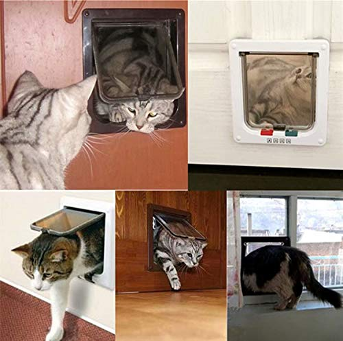 1x Tunnel Cache Découpe Chatière Chien Porte de Chat avec Serrure Chatières pour Petit Animaux Cat Mate Verrouillable Facile à Installer Bla... 5