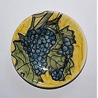 Uvas - PlatoLas uvas -Plato de cerámica hecho a mano,diámetro cm 12.2-HECHO en ITALIA, Toscana, Lucca.Certified.Davide Pacini.