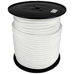 Polyesterseil Seil Polyester 1mm 100m Weiß Geflochten