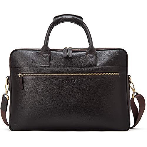 CLUCI Herren Aktentasche Echtleder Laptoptasche für 15.6 Zoll Laptop Business Groß Arbeitstasche Vintage Reisetasche Braun -