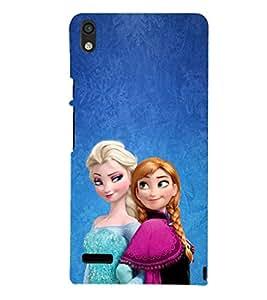 EPICCASE Cindrella and Friend Mobile Back Case Cover For Huawei Ascend P6 (Designer Case)