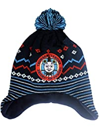 Official Licensed Boys Thomas The Tank Engine Winter Fleece lined hat with Bobble Age 1-2 Years