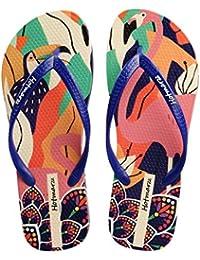 bf51748f54314f Hotmarzz Women s Colorful Prints   Cartoon Graffiti Summer Beach Slippers Flip  Flops Sandals