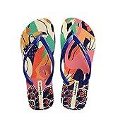 Hotmarzz Puntale separatore Femminile Süßes Blumen-Muster Sandalen Schwimmbad Mädchen Flache Folien Size 38 EU Blu