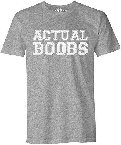 Actual Boobs - Herren Slogan T Shirt Sportsgrau