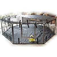 Speedwellstar Cover for 8 Side Sun Shade Heavy Duty Pet Pen Play Dog Cage Crate Run Fitted Elastic