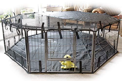 SpeedwellStar - Extra Groß Abdeckung 8 Seite Sonnenschutz für Licht Haustiergehege Haustier Stall Spielen Hundekäfig Universal