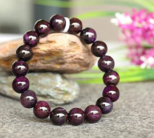 Beads Gemstone 1 Strands Natural Dark Purple Sugilite Stretch Finish Bracelet Round Beads 11mm 03779 Code-HIGH-23364