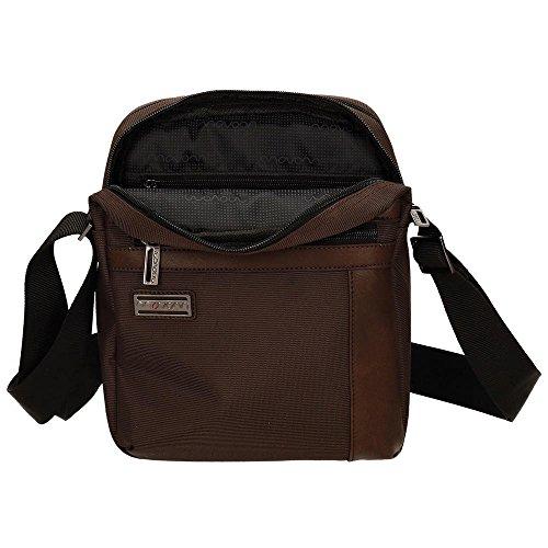 Movom borsa a tracolla, 24 cm, 4.12 liters, Nero Marrone