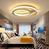 LED Drei Ring Designerlampen Modern Minimalistische Acryl Deckenleuchte Deckenbeleuchtungen Deckenlampe Dekoleuchten Wohnzimmer Energiesparlampen Innenbeleuchtung Warmes Licht(80cm+60cm+40cm)Weiß (2ring)
