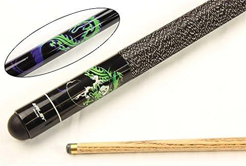 Riley Black Dragon Queue 8Ball Esche 2-teiliger Pool-/Snooker-Queue, 9,5mm Spitze