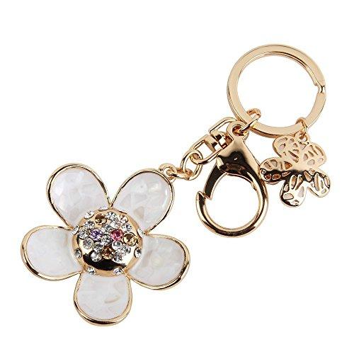 shell daisy blume schlüsselbund metall auto schlüsselbund schlüsselanhänger frauen mädchen handtasche dekoration geschenk box gepackt
