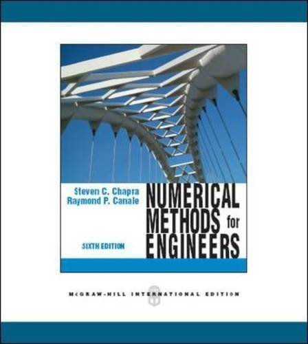 Numerical Methods for Engineers (Int'l Ed) by Steven C. Chapra (2010-05-01)
