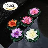 Schwimmende blühende Lotosblume auf dem Wasser 10 Stücke von 4 Zoll Wasserdichte Lotos für Hochzeits-Dekoration Garten Feier Garten Aquariums