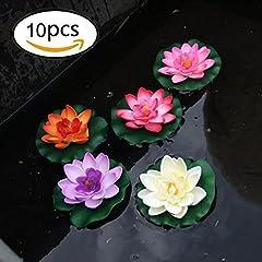 Idea Regalo - 10 pezzi di 4 pollici Floating Flower, impermeabile Fiore di loto per la cerimonia nuziale acquari decorazione
