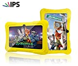 Special Offer IPS Kids Tablet - Tecwizz 7 Inch Kids Jumbo IPS Tablet PC Bundle (Quad Core, 8GB, HD, Google Android Kitkat 4.4, WIFI Enabled) + Extra Heavy Duty Kid Proof Silicon Case (Yellow)