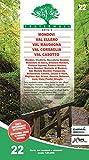 Carta n. 22. Mondovì, Val Ellero, Val Maudagna, Val Corsaglia Val Casotto. Carta dei sentieri e stradale scala 1:25.000
