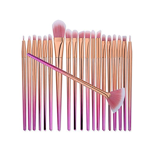 Kits Billig Make Up (kasla 20Stück Make-up-Pinsel Set Profi Face Lidschatten Eyeliner Foundation Blush Puder Liquid creme Cosmetics Blender Einhorn Pinsel)