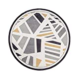 Teppiche DT Runde, Geometrische Mosaik Muster Nordic Modernen Minimalistischen Wohnzimmer Sofa Schlafzimmer Nachttisch Drehstuhl Kissen (100 * 100 cm) (größe : 120x120cm)