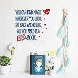 Suuyar Sie Können Magie Finden, Wo Immer SieVinyl-Wandaufkleber SuchenWand-Schriftzug Für Kinder Spielzimmer Klassenzimmer Lesen Dekor40Cm X 22Cm