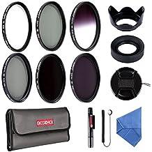 Beschoi 58MM Filter Kit (UV+CPL+ Filtro Grigio Graduale Grigio, ND2+ND4+ND8 Filtri a Densità Neutra)+Petalo Paraluce+Paraluce Pieghevole 13Pcs Obiettivi Filtri Kit Accessori per DSLR Camera