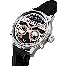 AUER Classic Collection BA-513-BlBlL Automatic Mens Watch Classic & Simple