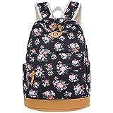 Nasis Damen Mädchen Canvas Segeltuch Rucksack Schultasche Daypacks für Campus College Laptop Reise Multifunktion Tasche AL5036
