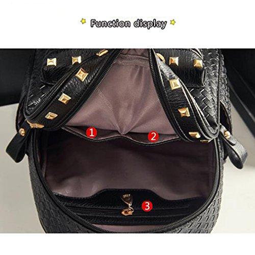 FAIRYSAN , Damen Rucksackhandtasche Schwarz negro negro