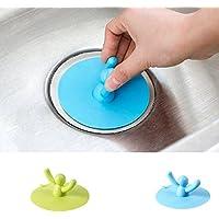 EQLEF® 2 Pz Kitchen Sink bacino l'acqua viene scaricata igienici capelli tappo della vasca Plug silicone della copertura Piano di scarico setaccio la casa e