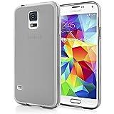 Samsung Galaxy S5 Mini Hülle Handyhülle von NALIA, Ultra-Slim Silikon Case, Dünne Crystal Schutzhülle, Etui Handy-Tasche Back-Cover Bumper, TPU Gummihülle für Samsung S5 Mini Phone - Grau