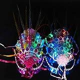 Hallowmas mascarade Masque, Jaminy coloré fluorescent Paon Raindrop Masque Flash brillant fête fête