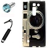 Lusee® la caja silicone de TPU del gel para LG Magna / G4C Funda Cáscara La caja posterior a parachoques La caja posterior de cubierto + el estilo Touchpen gratuido,el enchufe de polvo prueba lente de la cámara negro